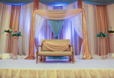 Noreen & Sunny - Wedding Reception at Le Jardin - Khazana ...